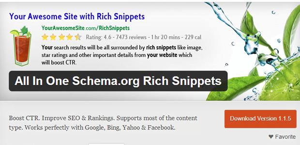 vtičnik All In One Schema.org Rich Snippets